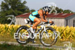 Heather Gollnick on her bike at the 2012 Ironman Louisville…