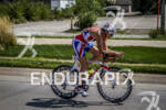Leanda Cave on the bike at the HyVee Triathlon on…