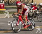 Javier Gomez on the bike course at the 2012 HyVee…