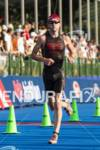 David Thompson on the run course at the 2012 HyVee…