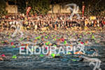 Age group swim start at Ironman Wisconsin in Madison, WI…