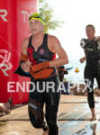 Kate Bevilaqua exits the swim at Ironman Wisconsin on September…