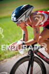Kathleen Calkins during the bike portion of the 2012 Ironman…