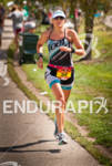 Beth Walsh on the run course towards a 2nd place…