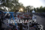 The age groupers transition area before the start of the…