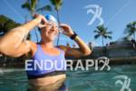 Mareen Hufe during her pre-race swim training of the 2012…