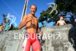 Chris McCormack doing the shaka during his pre-race swim training…