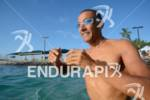Chris McCormack during his pre-race swim training of the 2012…