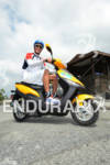 Andreas Raelert on a scooter after a run workout at…