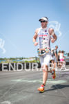 Paul Matthews on the run at the Ironman World Championship…
