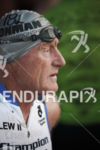 Lew Hollander prepares himself for another swim start at the…