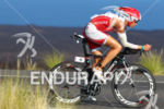 Rasmus Henning bikes on the Queen K during  the Ironman…