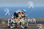 Timo Bracht bikes on the Queen K at the Ironman…