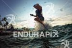 Dirk Bockel exits the water at the Ironman World Championship…