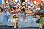 Faris Al-Sultan at the finish line at the Ironman World…