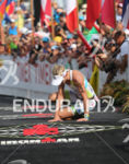 Mirinda Carfrae collapsing at the finish line of the Ironman…