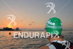 An athlete waiting for his start wave at the Ironman…