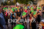 Athletes wating for race start at the Ironman 70.3 Miami…