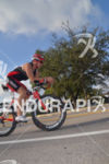Riding thru Miami neighborhoods at the Ironman 70.3 Miami in…