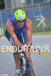 Pro Matty Reed riding at the Ironman 70.3 Miami in…
