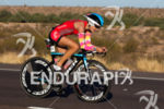 Linsey Corbin on the first lap of the bike at…