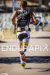 Ian Mikelson is light on his feet during the run…