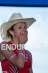 Linsey Corbin at finish showing the emotion of winning at…