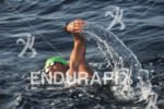 Gary Wang swims at the 28th Ultraman World Championships held…
