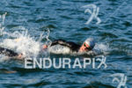 Brazilian pro Reinaldo Colucci swimming at the Ironman 70.3 Pucon…