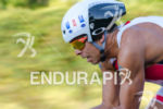 Chilean Felipe Van de Wyngard riding hard at the Ironman…