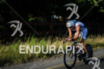 Italian Daniel Fontama pushing it hard during the Ironman 70.3…