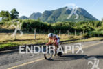 Felipe Van de Wyngard riding with mountains in the background…