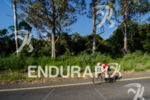 Age grouper riding at the Ironman 70.3 Pucon in Pucon,…