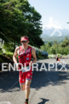 America's Ben Hoffmann running at the Ironman 70.3 Pucon in…