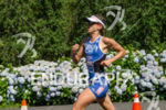 Valentina Carvallo running for her winning at the Ironman 70.3…