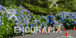The flower path at the Ironman 70.3 Pucon in Pucon,…