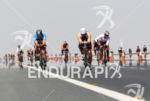 Age groupers on the bike in the heat