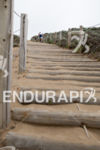 The infamous sand stairs at the 2013 Escape from Alcatraz…