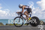Leanda Cave, GBR, on lap 2 at the 2013 Ironman…