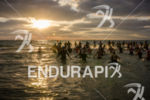 Female triathletes strat swim course at the 2575 Triathlon Miami…