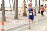 Race winner Fiorella Dcroz Brusatin running during 2575 Triathlon Miami…