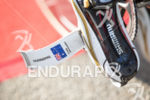 Craig Alexander's bike shoe in T1 at the Ironman Asia-Pacific…