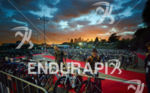 Early morning in T1 at the Ironman Asia-Pacific Championship on…