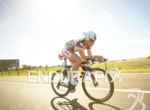 Caroline Stefen on bike at the Ironman Asia-Pacific Championship on…