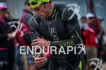 Jesse Thomas exits water at the  Ironman 70.3 California on…