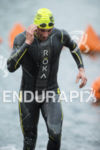 Jesse  Thomas, USA,exits the swim at the 2013 Ironman California…