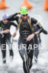 Mirinda Carfrae, USA, exits the swim at the 2013 Ironman…