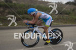 Mirinda Carfrae, USA, on the bike at the 2013 Ironman…