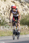 Rachel Joyce, GBR, on the bike at the 2013 Ironman…