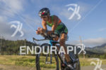 Linsey Corbin, USA, on the bike at the 2013 Ironman…